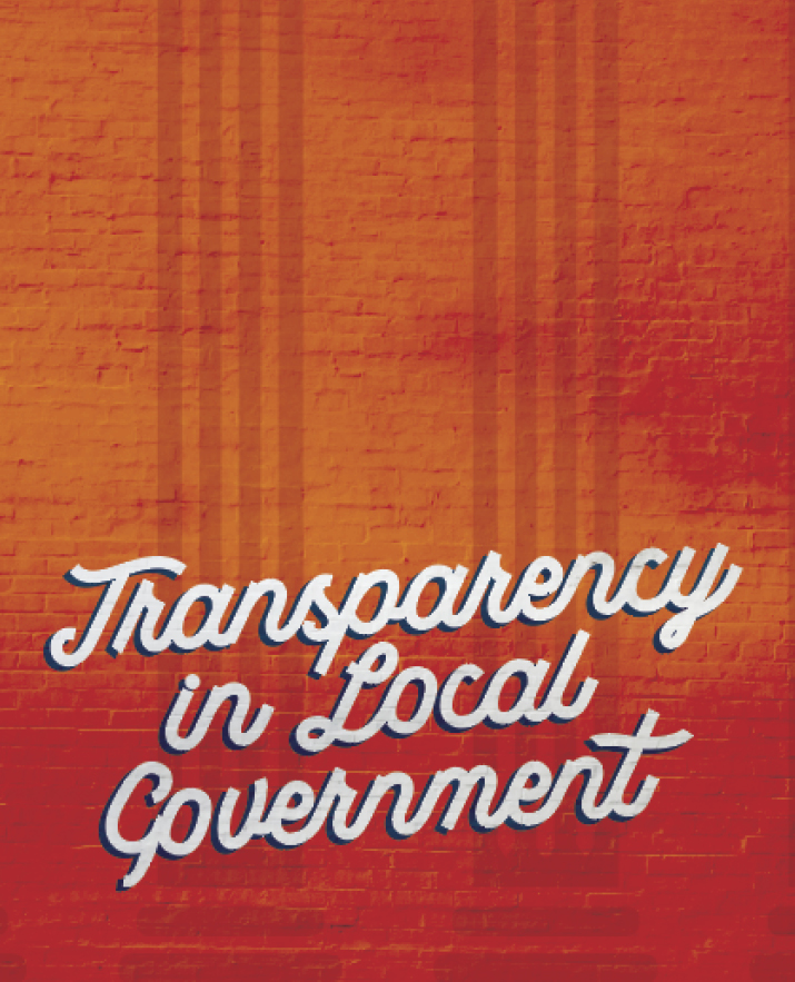 Transparency in Local Government: Putting People First at City Hall