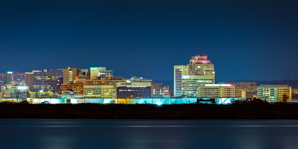 Wilmington, Delaware's skyline.